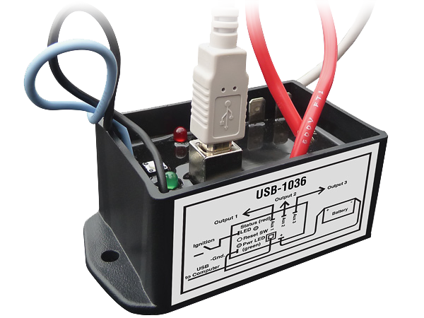 USB-1036 Ignition Sensing Programmable Delay Timer